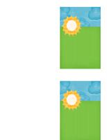 Cartão de agradecimento (design de nuvens)