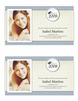 Anúncio de formatura com foto (design Texturas)