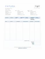 Fatura de venda (design Plano de Fundo Azul)
