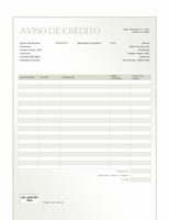 Aviso de crédito (design Gradiente Verde)
