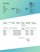 Fatura de venda (design Gradiente Verde)
