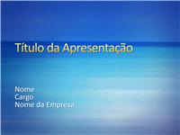 Amostra de slides de apresentação (Design de faixas degradê azuis)