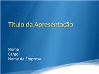 Amostra de slides de apresentação (Design azul com borda de nuvem branca)