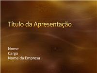 Amostra de slides de apresentação (Design de ouro escovado e curvas)