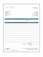 Fatura de serviços (design Borda Azul)