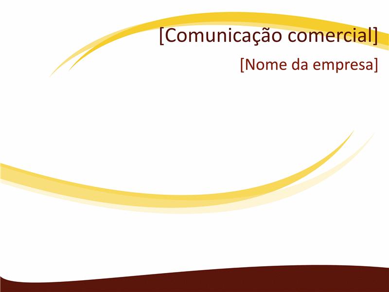 Slide de design comercial (design de Ondas Vinho)