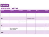 Lista de tarefas semanal