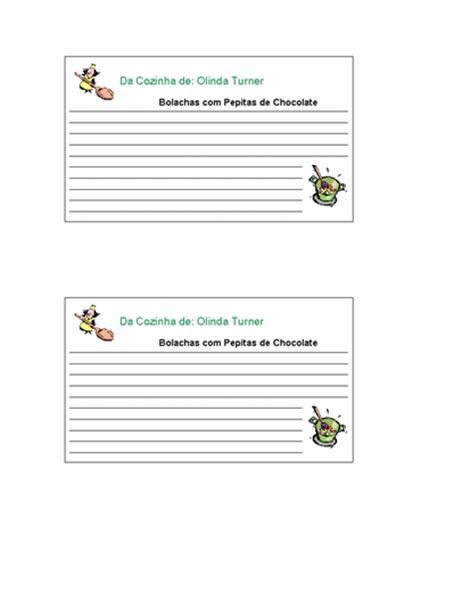 Cartões de receitas (personalizado, 2/pg.)