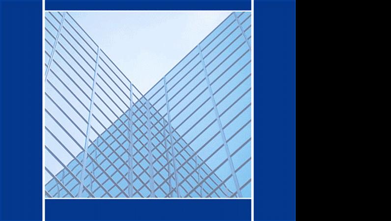 Modelo de design de prédios espelhados