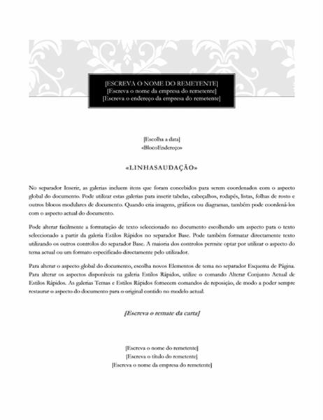 Carta de mala direta (design Black Tie)