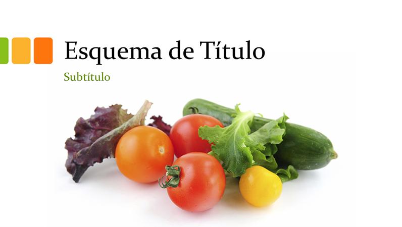 Apresentação de alimentos naturais (widescreen)