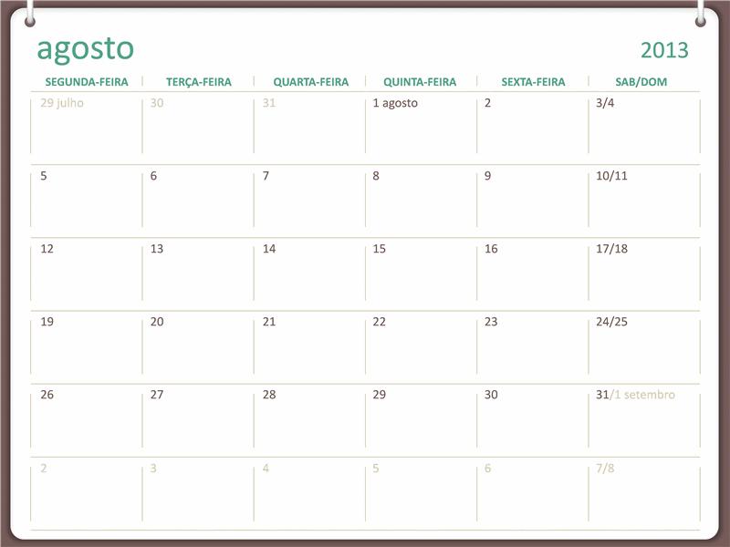 Calendário acadêmico de 2013-2014 (agosto)