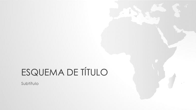 Série mapas-múndi: apresentação continente africano (widescreen)