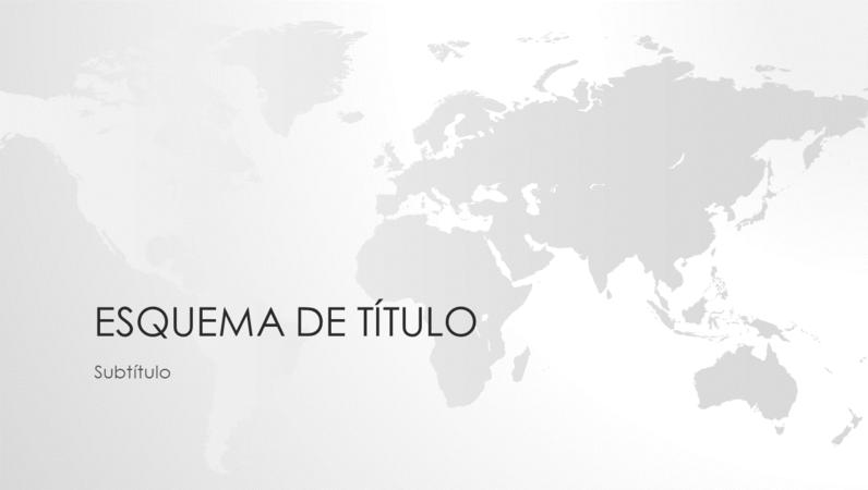Série de mapas do mundo, apresentação com o mundo (ecrã panorâmico)