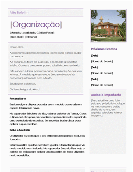 Newsletter de Escola Primária