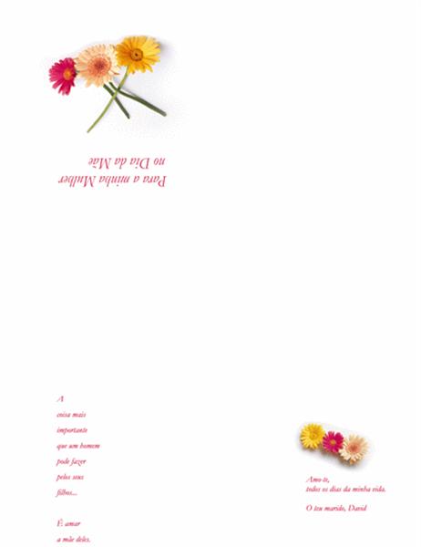 Cartão do Dia do Mãe (para a esposa)