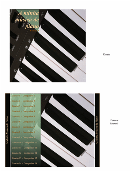 Encarte de CD (design de piano)