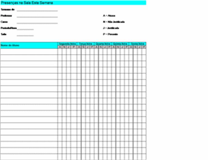 Registo de Participação Semanal