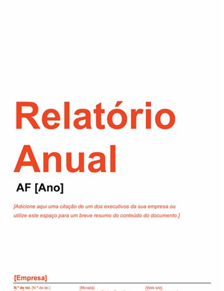 Relatório Anual (Desenho Vermelho e Preto)