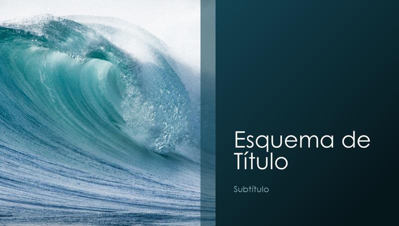 Apresentação de natureza de ondas do mar (widescreen)