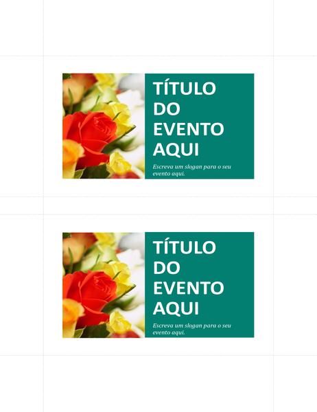 Cartões-postais promocionais (dois por página)