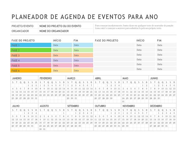 Planejador de eventos
