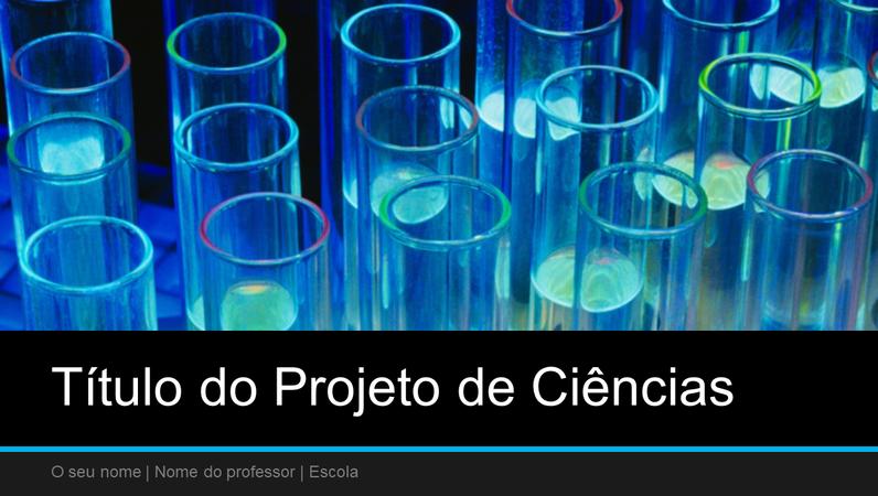 Apresentação de projeto de ciências (ecrã panorâmico)