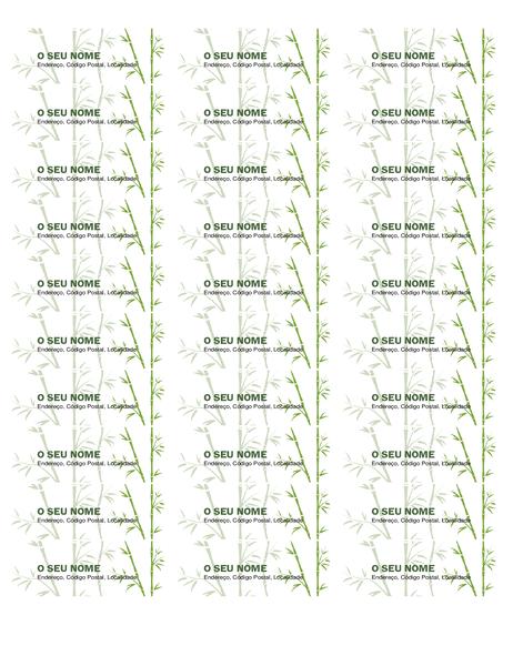 Etiquetas de endereço de remetente (Bambu, 30 por página, funciona com Avery 5160)