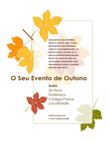 Panfleto para evento de outono (com folhas)