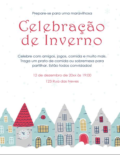 Panfleto para festa de inverno
