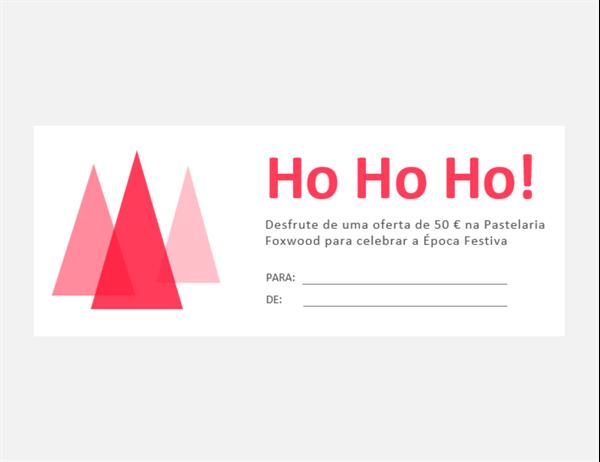 Vales-presente de Natal (10 por página)