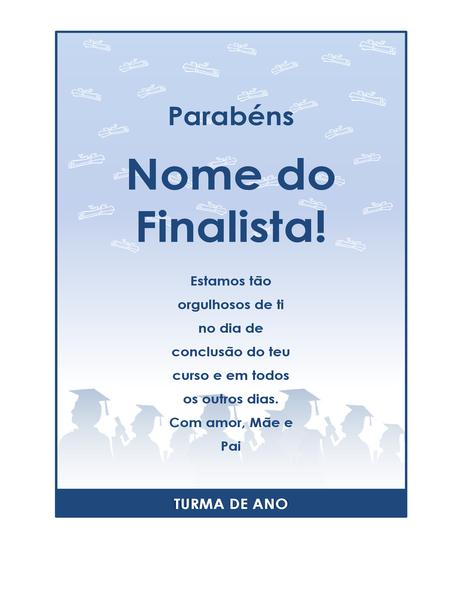 Panfleto de parabéns pela graduação (design de Festa de Graduação)