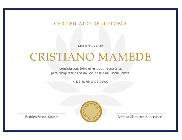 Certificado de diploma