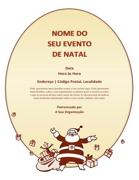 Panfleto de evento de Natal