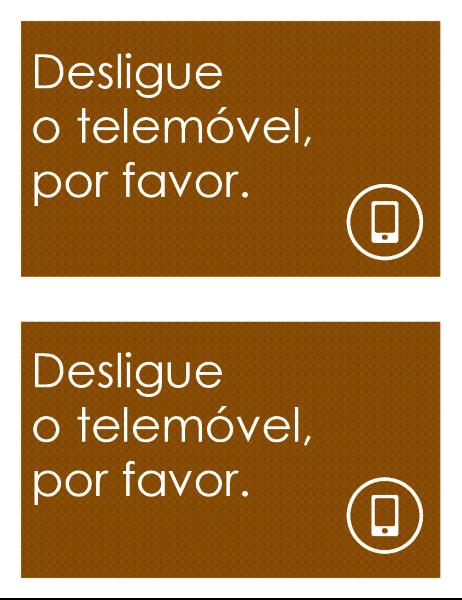 Sinal de proibição de telemóveis (dois por página)