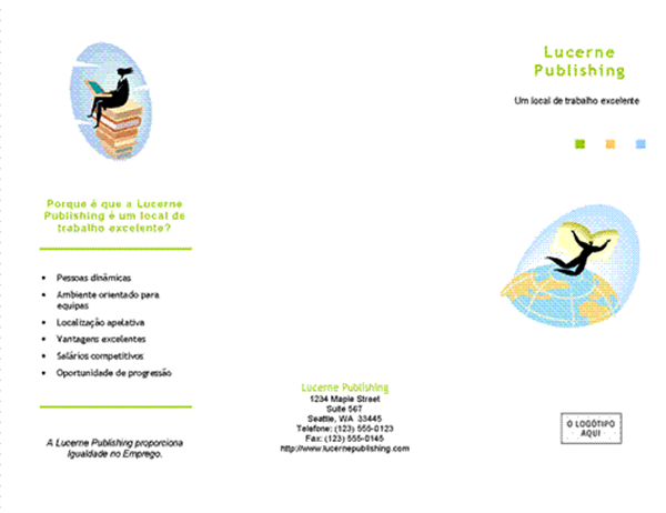 Folheto de recrutamento para feira de empregos