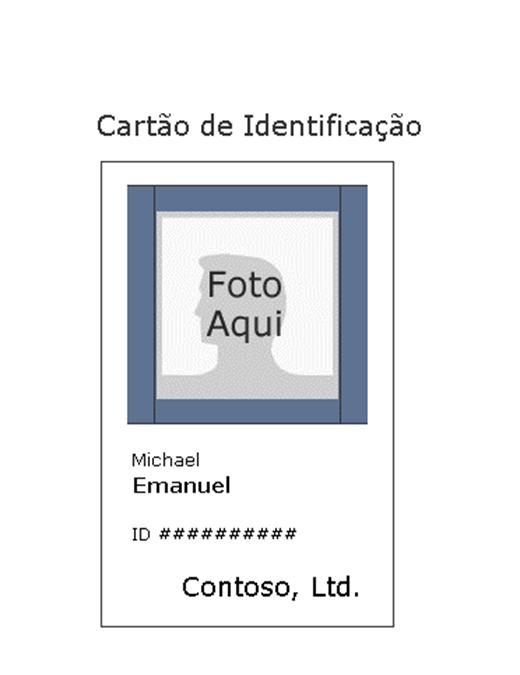 Cartão de identificação do empregado (vertical)