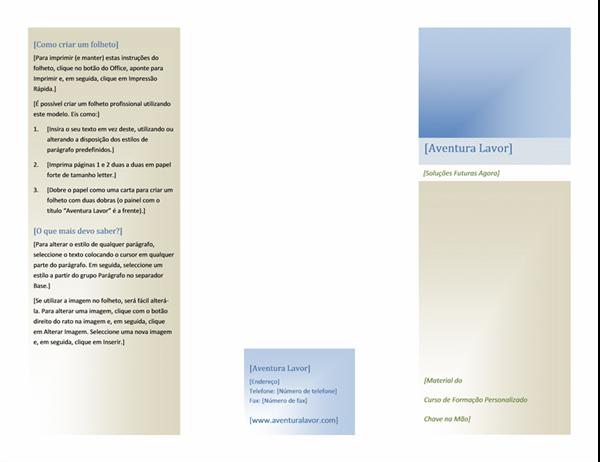 Brochura (8 1/2 x 11, horizontal, 2 dobras)