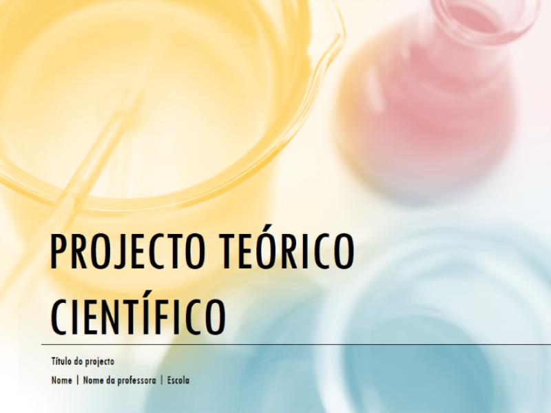 Apresentação do projecto teórico científico