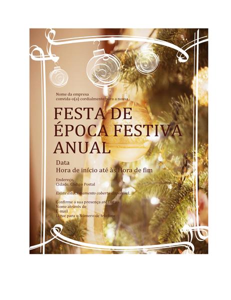 Convite para festa de Natal (para evento de negócios)