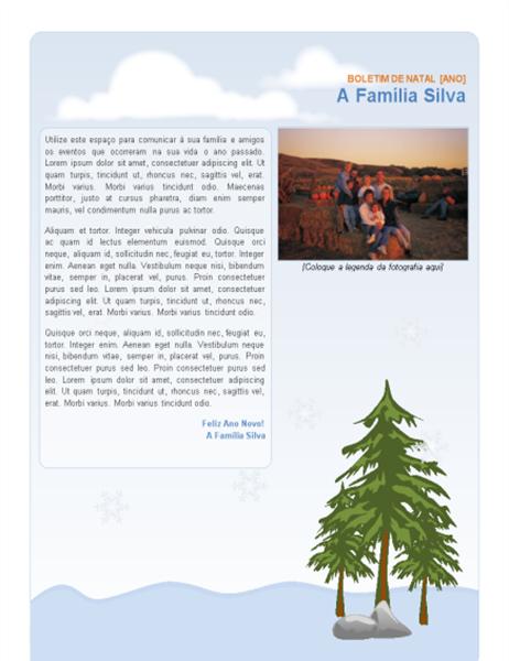 Boletim informativo de férias da família