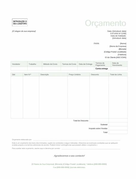 Proposta de venda (design verde)
