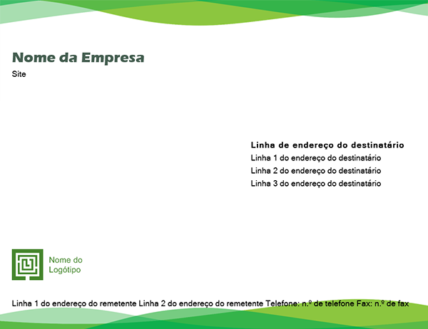 Envelope (design com ondas verdes)