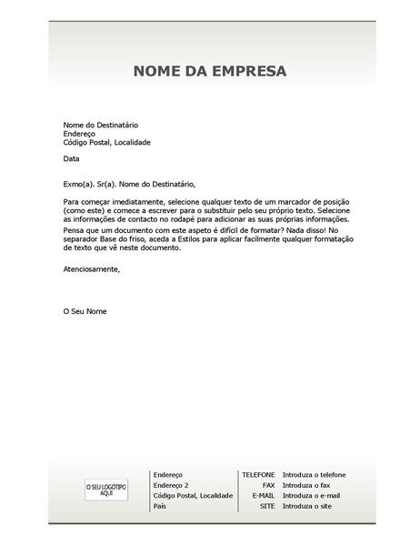 Papel timbrado de empresa (Design simples)