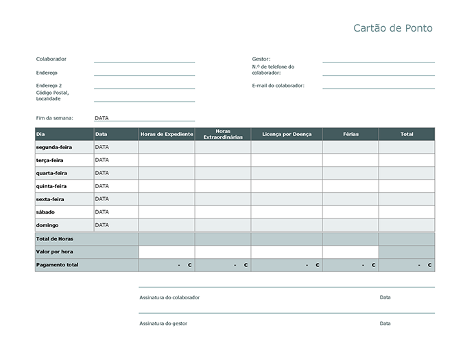 Cartão de ponto