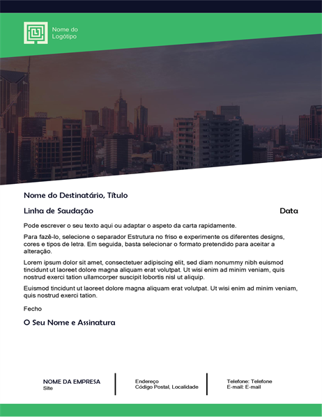 Carta empresarial (design Floresta)