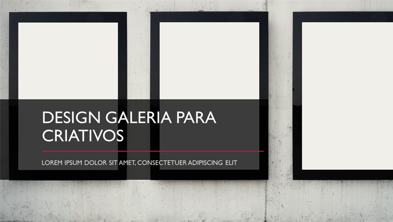 Design Galeria para Criativos