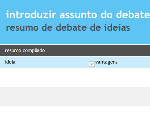 Colaboração no debate