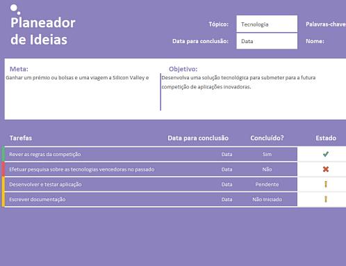 Planejador de ideias (tarefas)