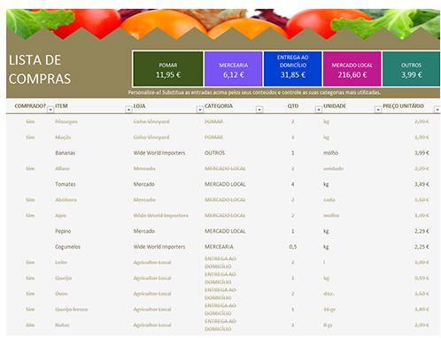 Lista de supermercado